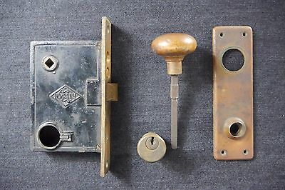 Antique Vintage Russwin Door Hardware Entry Lock Set Incomplete Early 1900's