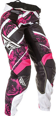 Fly Racing Kinetic Ladies Race Pant Pink/white Sz 9/10