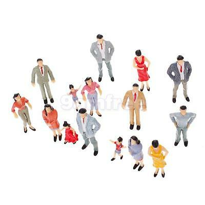20pc Painted Passenger People Figures Model Train Diorama Scenery Scale G 1:25