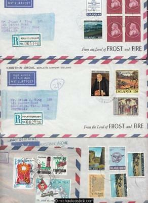 1971-77, 4 Covers from Iceland(3) & Philippines to Australia