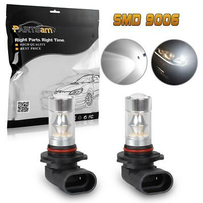1Pair 6000K 100W 9006 HB4 Fog Driving Light Super Bright LED Bulb for BMW