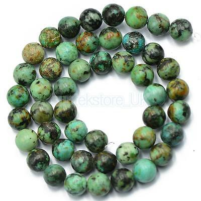 High Quality Blue African Turquoise Beads Natural Gemstone Loose Beads 8mm