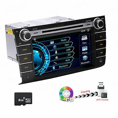 "8"" Car GPS Stereo DVD Player Head Unit Radio Bluetooth For 04-10 Suzuki Swift"