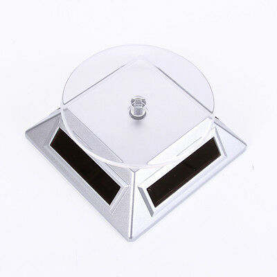 Jewelry Phone Watch Solar Powered Energy Rotating Display Stand Turntable Plate