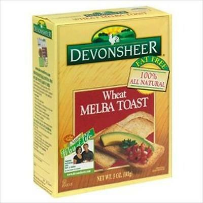 Devonsheer Whole Wheat Melba Toast 5-Ounce Boxes -Pack of 12