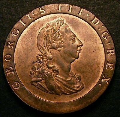1797 Choice UNC George III Cartwheel Penny Coin CGS 80. ☆☆☆ Price Reduced ☆☆☆