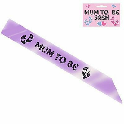 Mum To Be Sash Baby Shower Party Gift Ribbon Accessory
