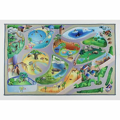 Flair Rugs Childrens/Kids Zoo Design Non Slip Play Mat