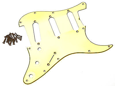 Aged 64 Pickguard - Mint Ivory - Relic ® - Fits To Strat ®  - Montreux Retrovibe