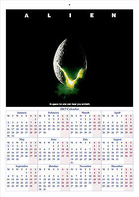 Alien - 2017 A4 CALENDAR **BUY ANY 1 AND GET 1 FREE OFFER**