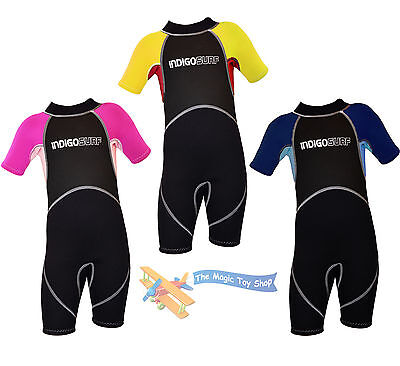 Infant Kids Childs Junior Shorty Wetsuit Boys Girls Childrens Shortie Swimsuit