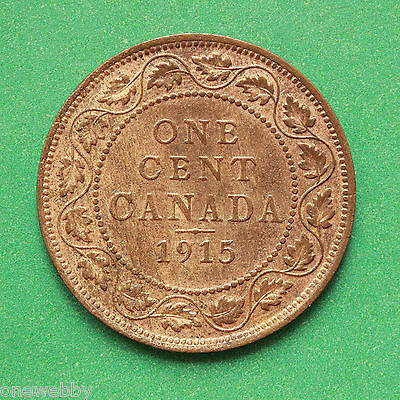 1915 Canada GEF With lustre 1 Cent SNo40473