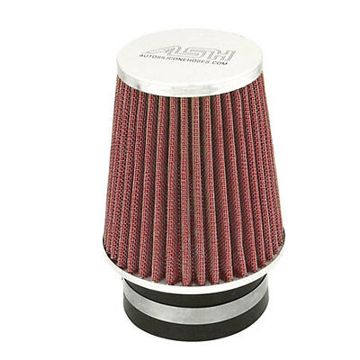 Red Cone Air Performance Upgrade Filter Conical Mesh Chrome Top Universal