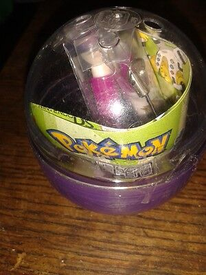 Official Nintendo DS NEW POKEMON DS CHARACTER PEN * PURPLE IN PLASTIC BALL