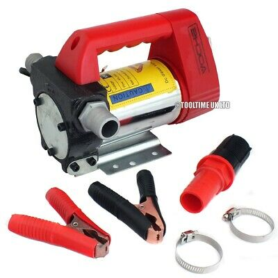 Voche® Heavy Duty 175W 12V Portable Diesel Fuel Transfer Extractor Pump 45L/min
