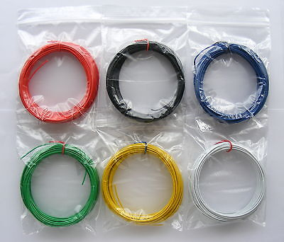 60m Equipment Wire Kit 1/0.6mm  22-23 AWG*  6 Colours Single Solid Core  6 x 10m