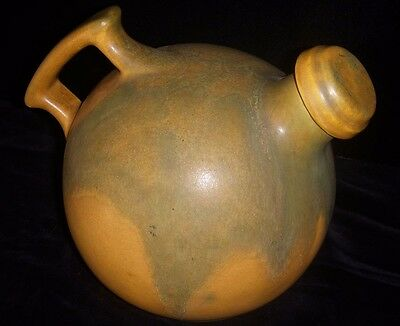 Beautiful 1930's Deco Pottery Water Pitcher by Camark in Matte Glazed Finish