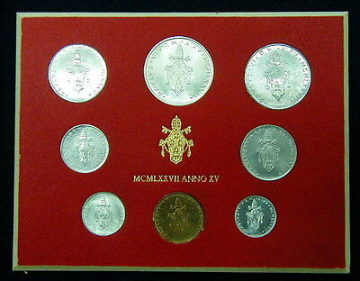 1977 Italy Vatican complete set UNC with silver in official red box