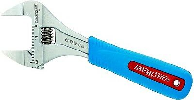 Channellock 8SWCB Slim Jaw Adjustable Wrench, Code Blue Grip for Comfort, 8in