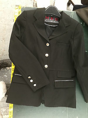 "HKM Black Childs 140cm Show Jacket 28"" Chest"