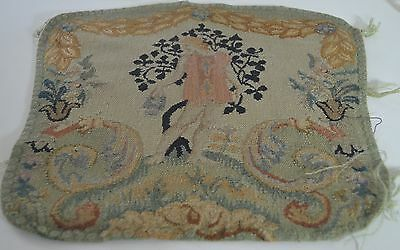 Gorgeous Antique French Hand Woven Figural Tapestry Piece Ss27