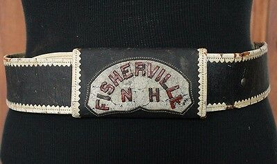 1870's Torrent Engine Co. Parade Belt from Fisherville, NH (now part of Concord)