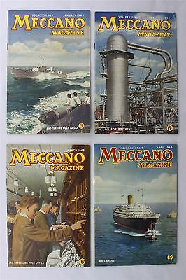 Meccano Magazine 1948 Complete Year x12 Vintage UK Mechanical Toy Steam Train