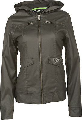 Fly Racing Waxed Ladies Jacket Black 2X