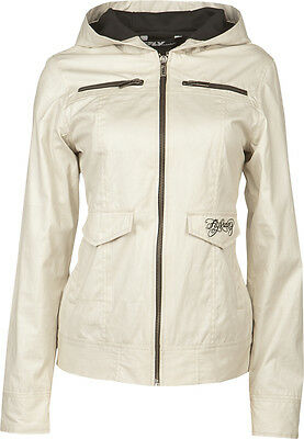 Fly Racing Waxed Ladies Jacket Ivory M
