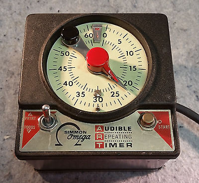 Simmons Omega Audible Repeating (enlarger)Timer Model M-59