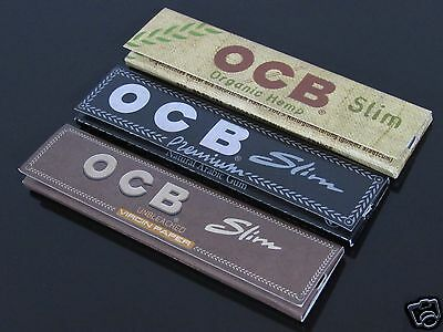 3 Booklets(3 style) OCB 110mm King Size Cigarette Tobacco Rolling Papers #1473