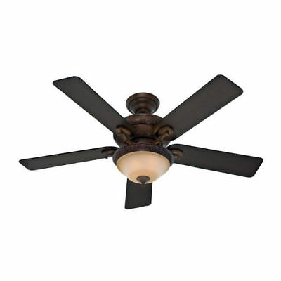 """Hunter 52"""" Vernazza Brushed Cocoa Ceiling Fan w/Light 53029 new"""