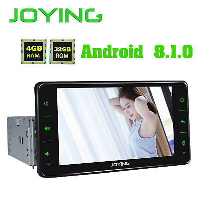 "8"" HD Android 5.1 Single 1 DIN Car Stereo In Dash GPS Radio RDS Bluetooth DVR 4G"