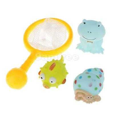 4 Pcs Baby Bath Play Time Toys Animals Characters Infant Funny Float Toys