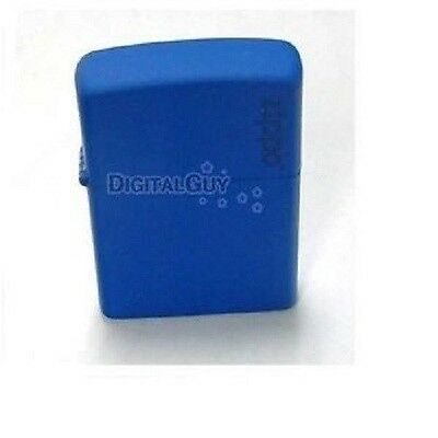 Zippo Royal Blue Matte LOGO Lighter Made in USA /GENUINE and ORIGINAL Packing
