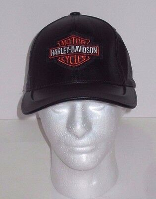 Leather - Harley Davidson Motorycle Bike - Hat Cap - Made In The USA