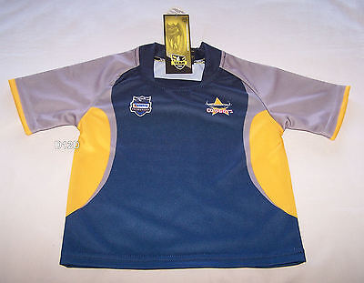 North Queensland Cowboys NRL Boys Supporter Home Jersey Size 00 New