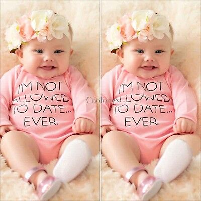 Newborn Toddler Boys Girls Kids Baby Romper Jumpsuit Bodysuit Outfit Set Clothes