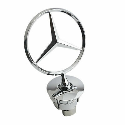 For Benz Emblem Hood Mount Badge Ornament 2108800186 Gold Upright Standing Star