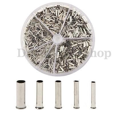 1900pcs Insulated Wire Cooper Crimp Connector Cord Pin End Terminal Ferrules Set