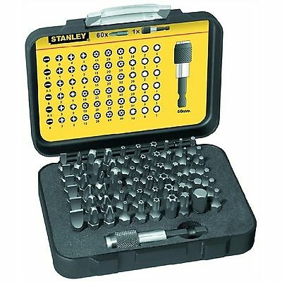 Stanley FatMax 61 Screwdriver Bit Set Tamperproof Torx Hex Pz Ph Flat Star