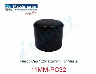 "MATCHMASTER Antenna Plastic Cap 1.25"" (32mm) For Masts  11MM-PC32"
