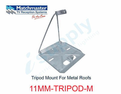 MATCHMASTER Antenna Tripod Mount For Metal Roofs  11MM-TRIPOD-M