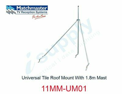 MATCHMASTER Antenna Universal Tile Roof Mount With 1.8m Mast  11MM-UM01