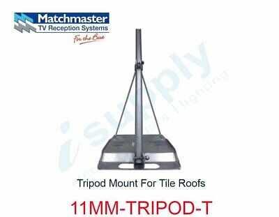 MATCHMASTER Antenna Tripod Mount For Tile Roofs  11MM-TRIPOD-T