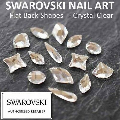 Genuine Swarovski Flat Back Crystals Rhinestones Gems Shapes Nail Art Crystal