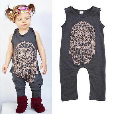 Toddler Baby Girls Boys Romper Bodysuit Playsuit Jumpsuit 1PCS Outfits Clothes