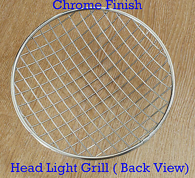"""Royal Enfield Balle Moto Motocycle 7"""" Phare Protection Grille Chrome Finition"""