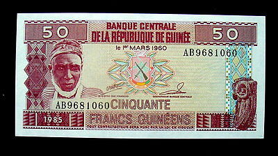 1985 GUINEA  Banknote 50 Francs UNC high quality