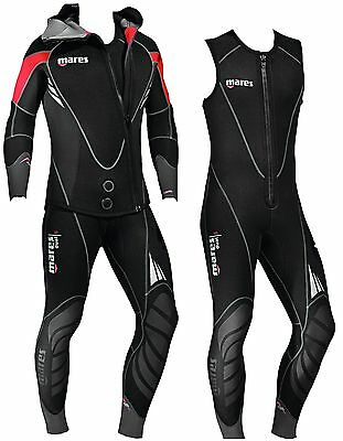 Mares Mens Dual 5mm Long John Combination Scuba Diving 2 Piece Wetsuit UK DEALER